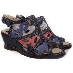 Sandália Em Couro Susan Anabela Blue J.Gean