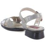 Sandália em Couro Emily Aço J.Gean BO0021-01