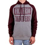 MOLETOM FICA FRIO/TAKE IT EASY CANG RAGLAN (GUN/BURGUNDY)