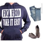 MOLETOM FICA FRIO/TAKE IT EASY SUPER SOFT (NAVY)