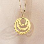 Pingente de Ouro 18K Mandala Personalizada Três Aros