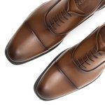 Sapato Masculino Oxford Amêndoa Couro Legítimo Monbran Dressy Rodgers 4038A