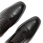 Sapato Masculino Oxford Preto Couro Legítimo Monbran Dressy Rodgers 4038P