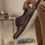 Sapato Casual Masculino Havana Couro Legítimo Monbran Dressy Gregory 20208H