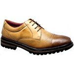 Oxford Masculino Couro Confort Furadinho Wisky 603