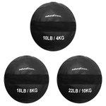 Kit Wall Ball 4kg - 8kg - 10kg Natural Fitness