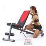 Kit Banco Exercicio Livre + Par Barra Oca 40cm + 24kg em Anilhas