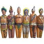 Painel de Esculturas de Índios