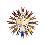 Divino Espírito Santo Resplendor com Peças Variadas 60 cm.