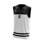 Camisa Regata Basquete Branca com detalhes em Listra