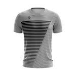 Camisa Casual Masculina Cinza com listras