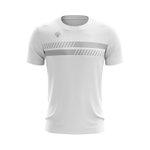 Camisa Casual Masculina branca duas barras