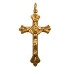 Crucifixo Romano Dourado 4,2x2,5cm