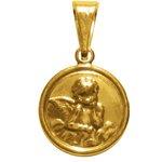 Medalha Folhada à Ouro Anjo da Guarda