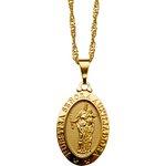 Gargantilha Folhada à Ouro Nossa Senhora Auxiliadora