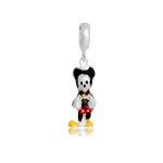 Pingente Mickey de Corpo Inteiro Memories Prata 925 Esmaltado