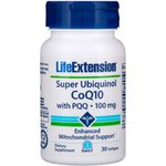 Super Ubiquinol CoQ10 com PQQ - Life Extension 100mg