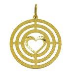 Mandala Oração do Sagrado Coração de Jesus em Ouro 18k