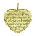 Pingente Coração Oração do Pai Nosso em Ouro 18k 0,750