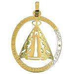Medalha Nossa Senhora Aparecida Rogai por nós Ouro 18k