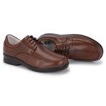 Sapato Masculino Conforto em Couro Cor Chocolate REF.1448-11203