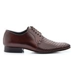 Sapato Social Clássico em Couro Croco Ref.1475-306