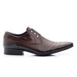 Sapato Social Estampado cor Mouro Ref. 1483-378