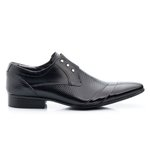 Sapato Social Estampado cor Preto Ref. 1484-378
