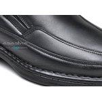Sapato Conforto Levíssimo Em Couro Preto Ref. 311-705