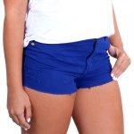 Short Feminino Azul Royal