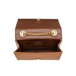 Bolsa Caramelo Clutch Pequena de lado Alça de corrente Verona