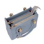 Bolsa Lorena + Carteira + Cinto Azul Claro
