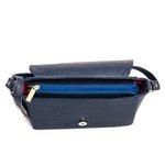 Bolsa Feminina Lateral Com Tampa Coleção Nova Selten Azul Escuro