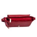 Bolsa Feminina Lateral Com Tampa Coleção Nova Selten Vermelha