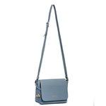 Bolsa Feminina Lateral Com Tampa Coleção Nova Selten Azul Claro