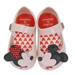 Sapatilha Infantil Mickey e Minnie Do 17 ao 24 Creme