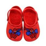 Papete Crocs Infantil Homem Aranha Corpo Inteiro Vermelha