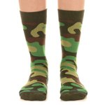 Meia SOCKS ON THE BEAT Camo Moss
