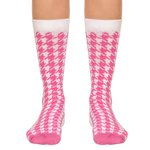 Meia SOCKS ON THE BEAT Pied de Coq Pink