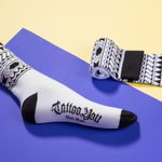 Meia SOCKS ON THE BEAT Colab TATTOO YOU Silvio Alves