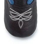 Bota Texana Baby - Fly Café / Azul Royal - Solado Bolha Natural - Bico Redondo - Cano Longo - West Country - WCB-1001-B