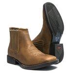 Botina Masculina - Dallas Bambu - Roper - Bico Quadrado - Cano Curto - Solado Freedom Flex - Vimar Boots - 82051-A-VR