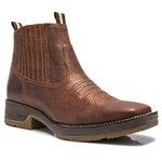 Botina Masculina - Fóssil Sella - Roper - Bico Quadrado - Cano Curto - Solado Strong Shock - Vimar Boots - 82081-A-VR