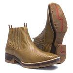 Botina Masculina - Lezar Caramelo - Roper - Bico Quadrado - Solado Strong Shock - Vimar Boots - 82081-D-VR