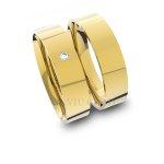 Alianças em Ouro 18K amarelo Anatômicas com Diamante (5.00 mm de largura)