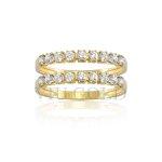 Aparador em ouro 18K amarelo com Diamante sintético