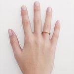Anel solitário em ouro 18k amarelo com Diamante sintético