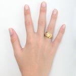 Anel de Nossa Senhora das Graças em ouro 18k amarelo e branco nos detalhes