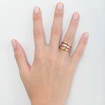 Anel em ouro 18k amarelo, branco, e rose