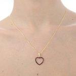 Pingente de coração em ouro 18k com Rubi